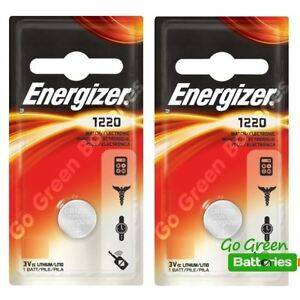2 x Energizer 1220 CR1220 3V Lithium Coin Cell Battery DL1220 ... d7a742c75e22
