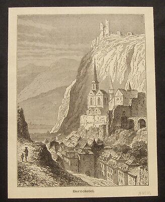 Ansicht Traben-trarbach, Mosel. Orig. Holzstich 1885