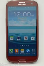 Samsung Galaxy S3 SGH-I747 16GB RED AT&T UNLOCKED GSM TMOBILE METRO PCS SIMPLE