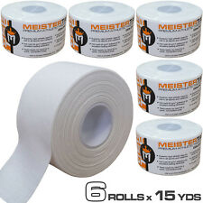 Minus 1.5 in X 15 Yd Latex-Free Football Soccer Sock Athletic Sports Tape White