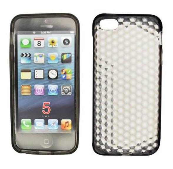 Custodia Protettiva In Silicone Gel Nero Diamante ~ Apple iPhone 5 / 5S / SE