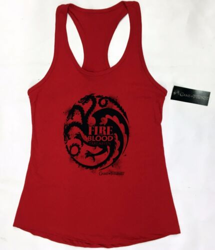 Game Of Thrones TARGARYEN FIRE AND BLOOD Girls Tank Top NWT Licensed /& Authentic