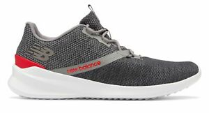 New-Balance-Homme-Cush-Chaussures-District-Run-Gris-Avec-Rouge
