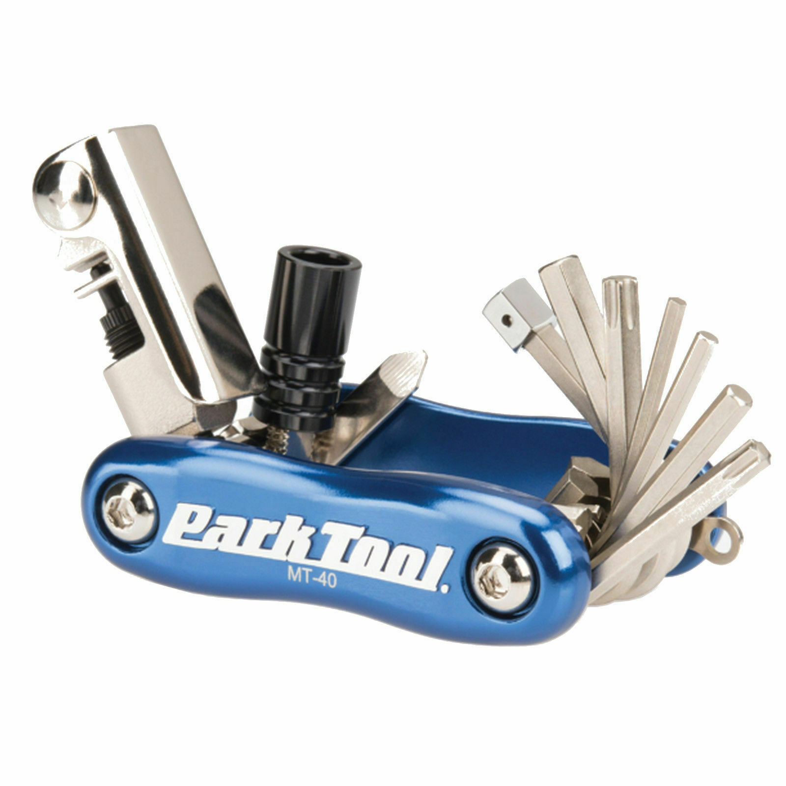 Park Tool Mt-40 Mini Bike Multi Tool With Chain Tool And Co2 Inflator Adaptor