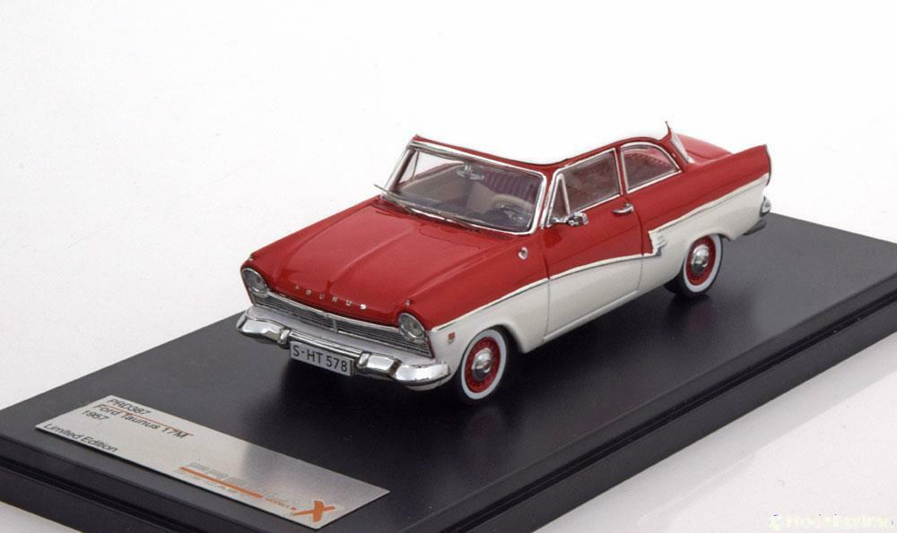 FORD TAUNUS 17M 1957 rouge blanc PREMIUM X PRD387 1 43 rouge rouge blanc WEISS