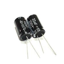10pcs 250v 33uf 250volt 33mfd Electrolytic Capacitor 1320mm