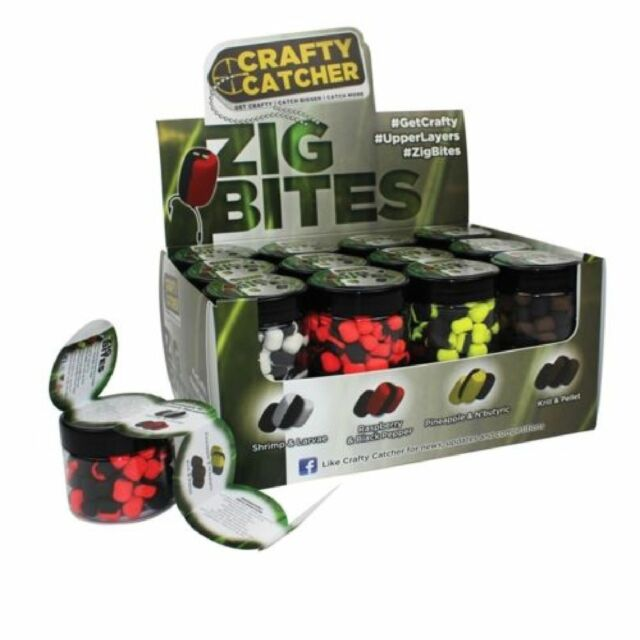 Crafty Catcher Zig Bites Carp Fishing Zig Rig Chod Rig Pop Up Boilies / Bait