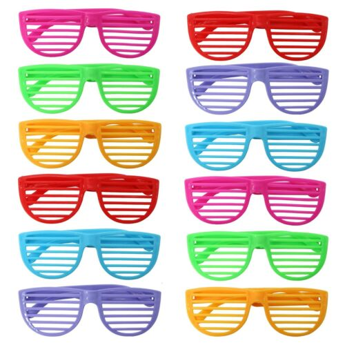 50 x Colourful Shutter Shades Fancy Dress Party Loot 80s Retro Kids Children Toy