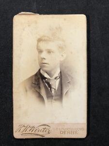 Victorian-Carte-De-Visite-CDV-Young-Gentleman-Winter-Derby