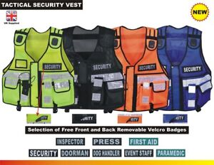 Hi Viz Tactical Security Dog Handler Vest Enforcement CCTV Tac Top Quality Vest