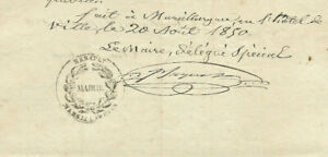 1843-Freemason-mayor-autograph-manuscript-letter-document-stamps-signatures