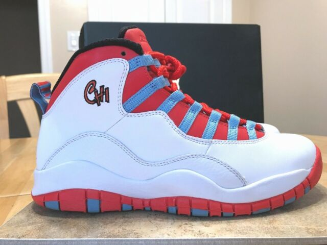24d28207da5 Air Jordan Retro 10 X 310805-114 Chicago Flag 2016 White Light ...