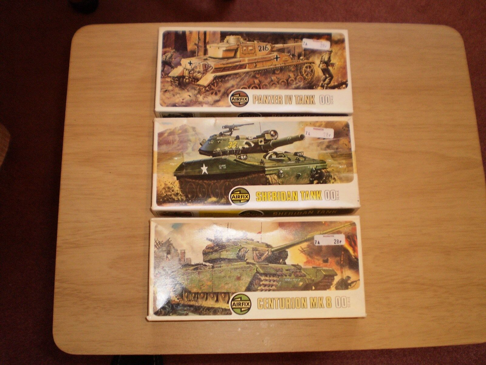 VINTAGE AIRFIX X3 OO SCALE KITS  COMPLETE UNSTARTED PANZER IV SHERIDAN CENTURION