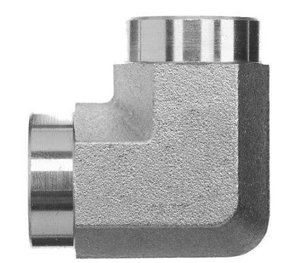 "1502-06-08 Hydraulic Fitting 3//8/"" Female Pipe x 1//2/"" Female Pipe Swivel 90"