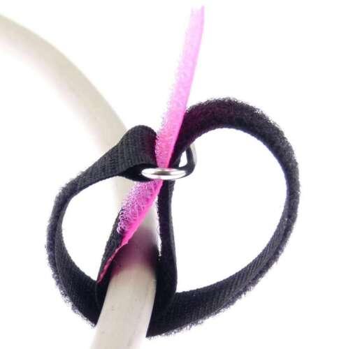 100x Kabelklettband 20 cm x 20mm neon pink Klettband Klett Kabel Binder Band Öse