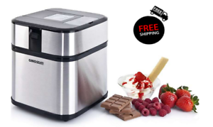 Eismaschine Eiscreme Frozenjoghurt Maschine Edelstahl Digital mit Timer Syntrox