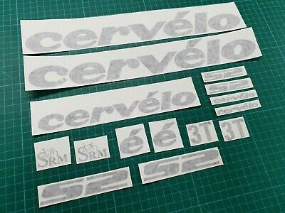 CERVELO Bike Bicycle Frame Decals Stickers Graphic Adhesive Set Vinyl Black