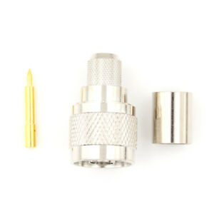 Details about New N-Type Crimp Plug Male Cable Straight RF Connector For  LMR400 RG8 HDUK