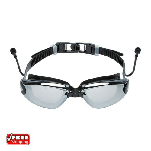 Leakproof Swimming Goggles Anti Fog UV Protect Earplug Swim Pool Water Sport