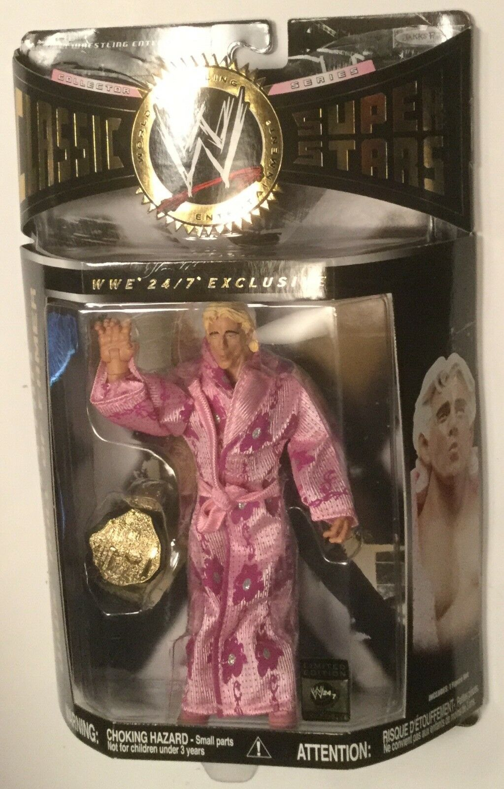 RIC FLAIR & belt 24/7 EXCLUSIVE Jakks Pacific WWE WCW Figure Classic Superstars