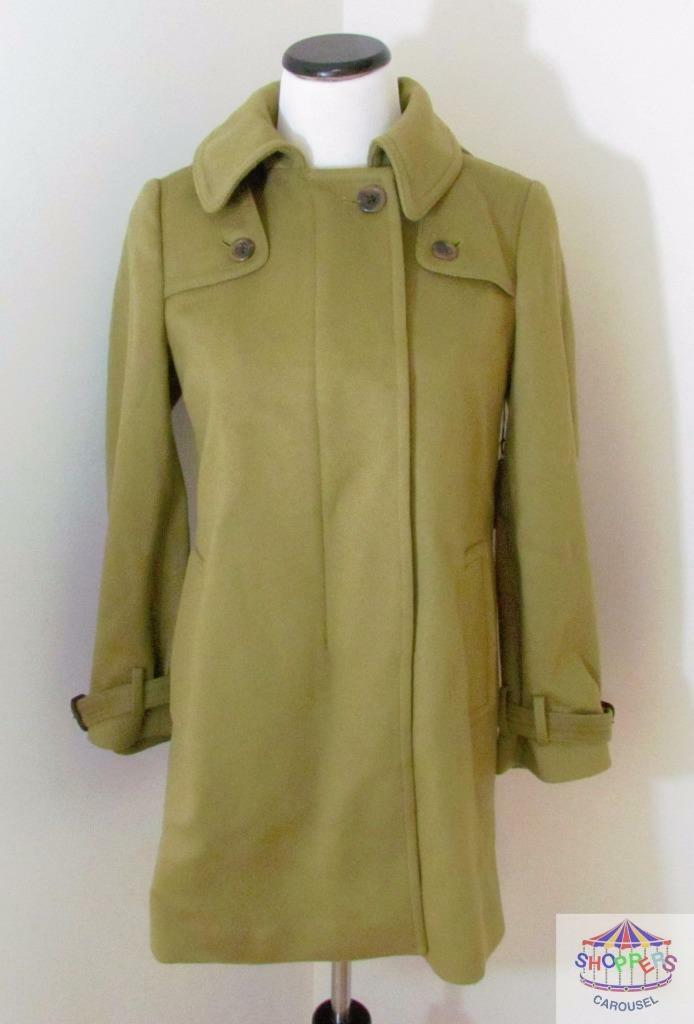 J CREW Wool Duffle Thinsulate Coat Olive  298 6P NEW winter