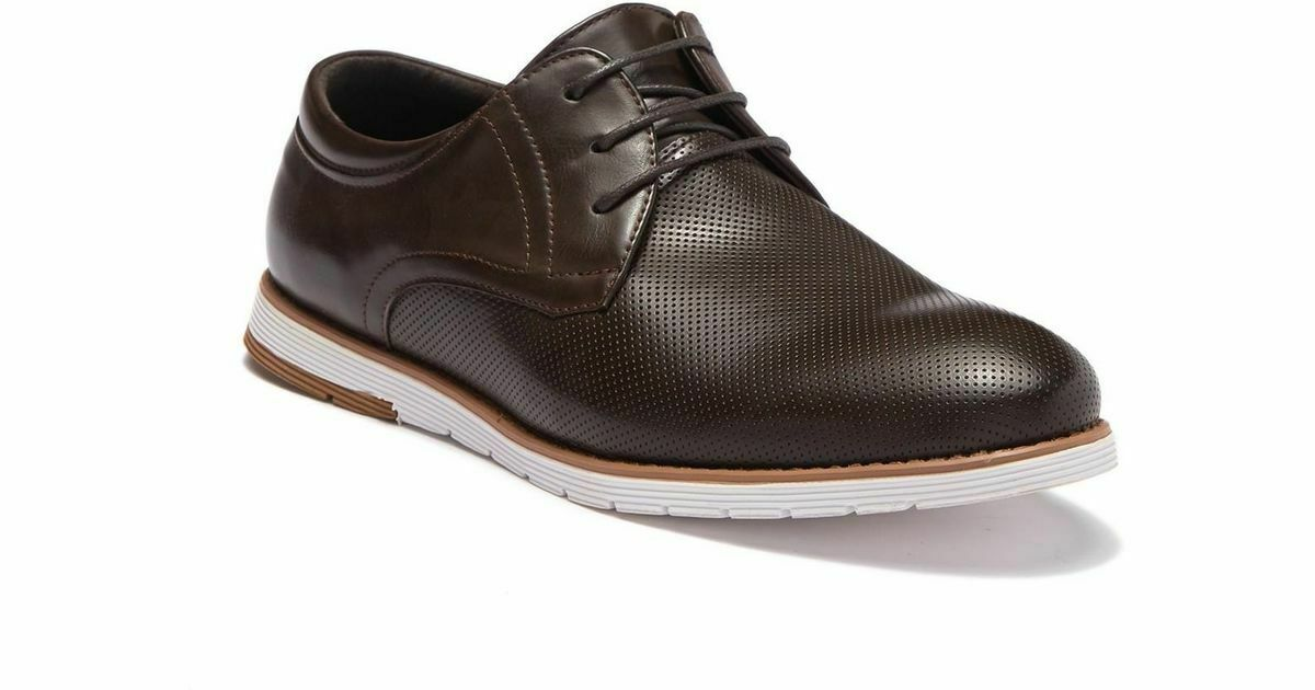 NEW English Laundry Men's Chap Perforated Derby shoes Brown and Black Pick color