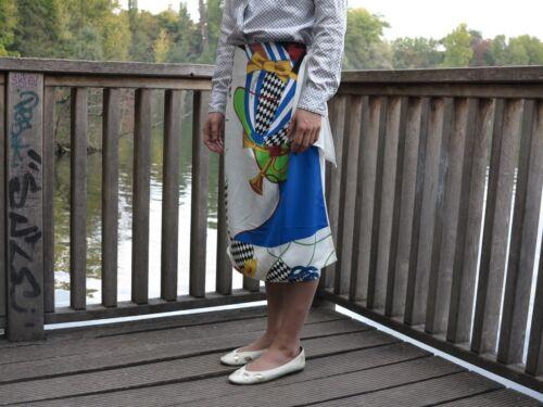 Wei Bunt femmes Rock portefeuille Wickelrock Wamenrock Vintage Silky Vintage Jupe pour wAS1BzqOx