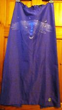 FULL LENGTH PURPLE CYBER DOG SKIRT WITH SILVER AND UV CYBER FLY PRINT SIZE SMALL