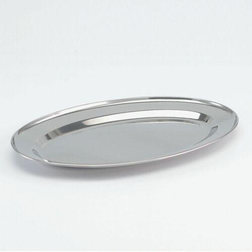 SSW Edelstahl Servierplatte oval 39 x 26 cm