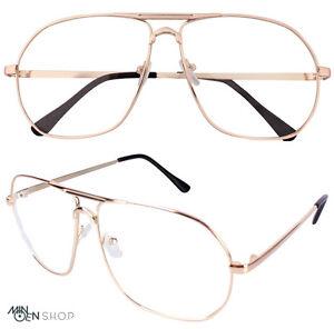 Best Wire Frame Glasses : Rose Gold Clear Lens Flat Top Metal Frame Pilot Glasses ...