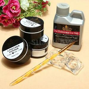 New-Portable-Nail-Art-Tool-Kit-Set-Crystal-Powder-Acrylic-Liquid-Dappen-Dish