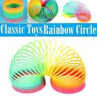 Cute 1Pcs Colorful Rainbow Plastic Magic Slinky Children Classic Development Toy
