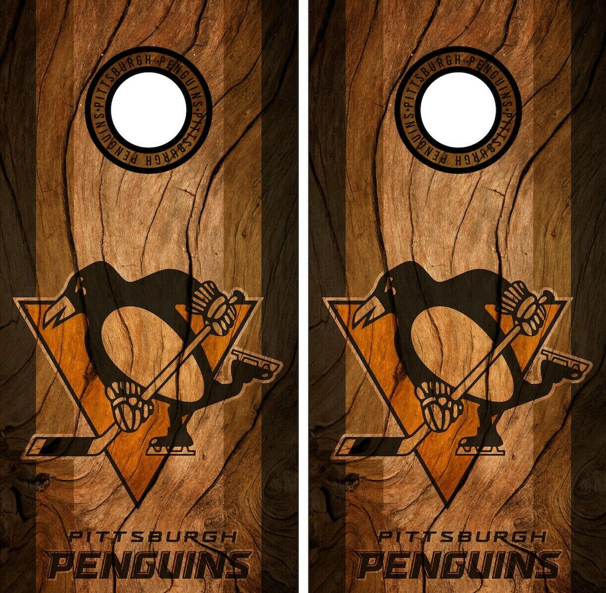 Pittsburgh Penguins Cornhole  Wrap NHL Decal Vinyl Gameboard Skin Set YD111  counter genuine