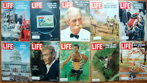 Lot-of-20-1965-LIFE-Mags-Space-Walk-Gemini-Waterloo-Measles-Sinatra-Malcolm-X-F
