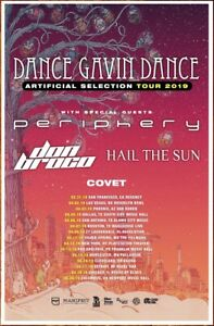 Details about DANCE GAVIN DANCE | PERIPHERY Artificial Selection 2019 Tour  Ltd Ed RARE Poster