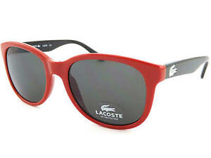 155d742d756 LACOSTE small fit Adult or Kids sunglasses RED BLACK with Green Lens ...