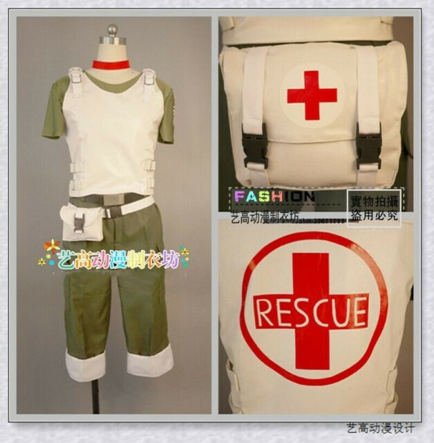 Resident Evil Vendetta Rebecca Chambers Uniform Outfit Cosplay