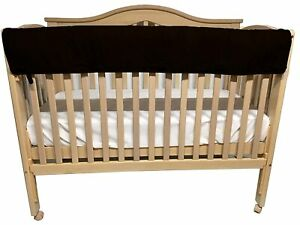 Baby Doll Bedding Solid Reversible Crib Bumper Brown//Apple