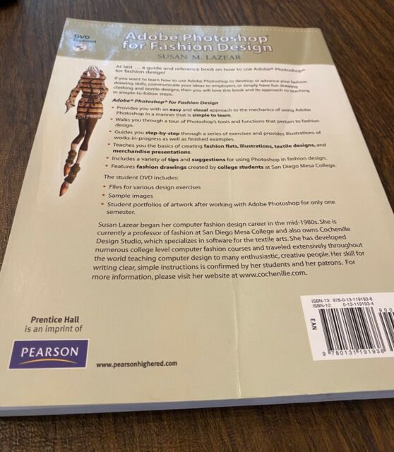 Adobe Photoshop For Fashion Design By Susan Lazear 2009 Trade Paperback Mixed Media For Sale Online Ebay