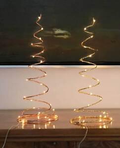 led dekoleuchte weihnachten spirale 15x42cm messing o kupfer fensterdeko ebay. Black Bedroom Furniture Sets. Home Design Ideas