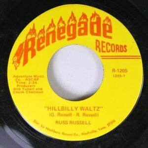 Country-45-Russ-Russell-Hillbilly-Waltz-If-She-039-S-On-The-Menu-On-Renegade-Rec