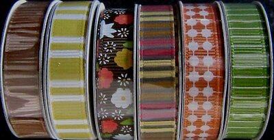 "American Crafts  Ribbon Spools Set h 8 yards  /""Autumn Crisp/"" - Save 60/%"