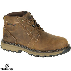 classic style latest trends deft design Details about Caterpillar CAT Parker S1P SRC Mens Brown Steel Toe Cap  Safety Boots Work Boot