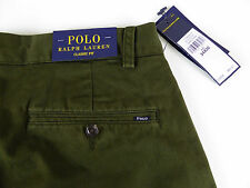 Ralph 710559348016 Fit Mens Lauren Classic 33x32 Sz Loden Dark Polo Pants ONwvnym80