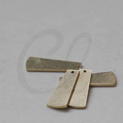 20.3x7.9mm 20 Pieces Raw Brass Trapezoid Charm 3824C-J-344X