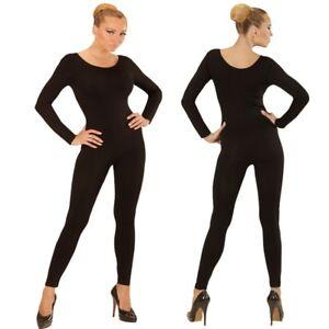 6657beff9c06 Das Bild wird geladen Einteiler-Damen-Body-Overall-Jumpsuit-lang-Sport- schwarz-