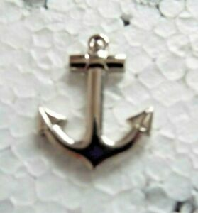 ENGLISH PEWTER SHIP/'S ANCHOR LAPEL PIN BADGE SAILING