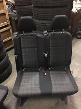 2016+ MERCEDES METRIS BLACK CLOTH VAN 2ND ROW 2 PERSON REAR BENCH SEAT