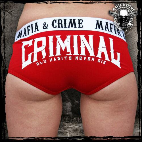 Hot Pants Unterwäsche 473 Mafia and Crime Damen,Criminal
