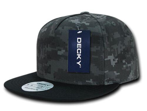 Decky Flat Bill Cotton 5 Panel Constructed High Crown Baseball Hats Caps